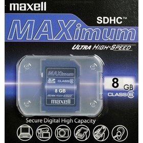 Maxell SDHC MAXIMUM 8GB CL6