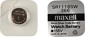 Maxell SR 1116SW / 366 LD Watch bat.