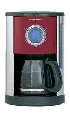 Morphy Richards 47084 Burgundy Coffee Maker