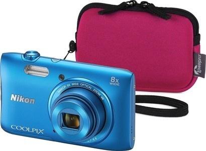 Nikon COOLPIX S3600 Blue + Varia 10 raspber