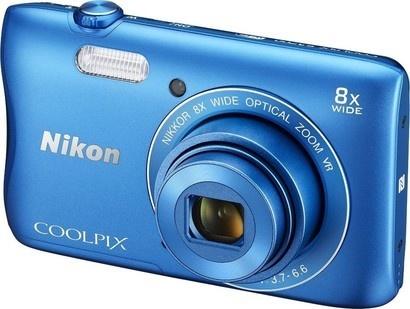 Nikon Coolpix S3700 blue + pouzdro + SDHC 8GB