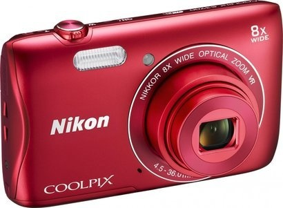 Nikon Coolpix S3700 red + pouzdro