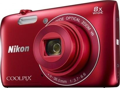 Nikon Coolpix S3700 red + pouzdro + SDHC 8GB
