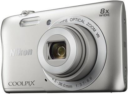 Nikon Coolpix S3700 silver + pouzdro + SDHC 8GB