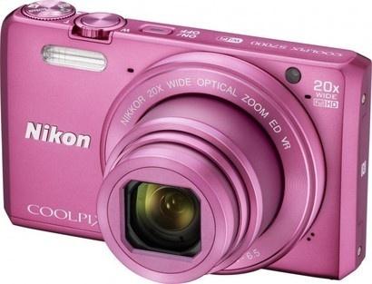 Nikon COOLPIX S7000 Pink + pouzdro + 8GB