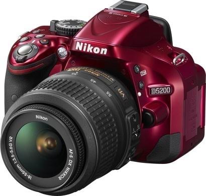 Nikon D5200 Red + 18-55 AF-S DX VR II