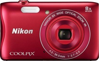 Nikon S3700 Red + čtečka karet