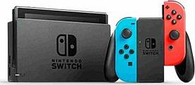 Nintendo Switch console with neonred&blue