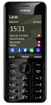 Nokia Asha 206 DS Black