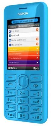Nokia Asha 206 DS Cyan