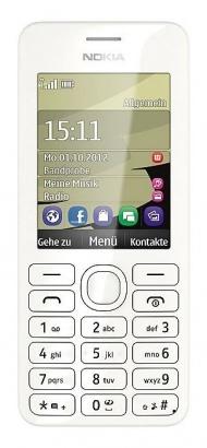 Nokia Asha 206 DS White