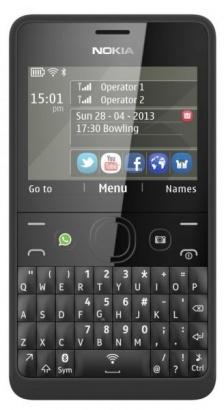 Nokia Asha 210 DS Black