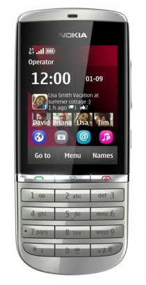 Nokia Asha 300 White Silver