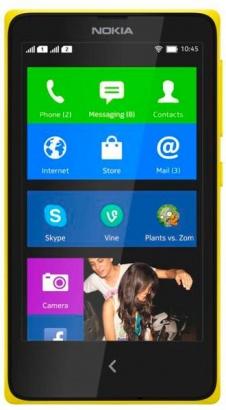 Nokia X DS Yellow