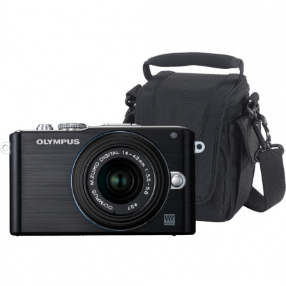 Olympus SADA E-PL3 KIT BLACK/BLACK + EDIT 100 brašna