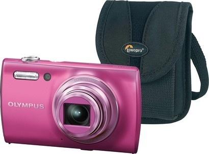 Olympus VH 510 pink + pouzdro LOWEPRO