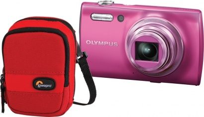 Olympus VH 510 Pink/Red + Pouzdro LowePro