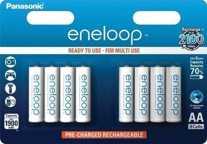 Panasonic 3MCCE/8BE ENELOOP AA 8x 2100c