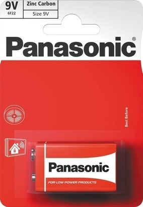 Panasonic 6F22 1BP 9V Red zn