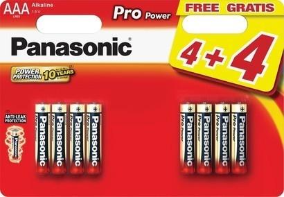 Panasonic LR03 8BP AAA Pro Power alk