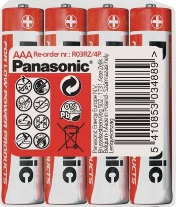 Panasonic R03 4S AAA Red zn