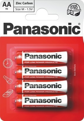 Panasonic R6 4BP AA Red zn