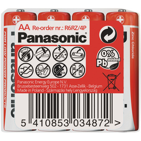 Panasonic R6 4S AA Red zn