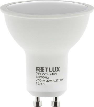 RETLUX RLL 252 GU10 žárovka 3W WW