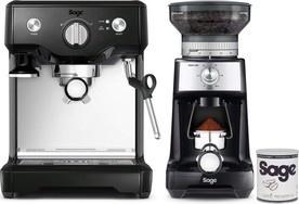 Sage BES810BKS + BCG600BKS + káva