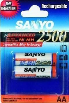 Sanyo HR 3U-2BP 2500 MAH,AA 2ks
