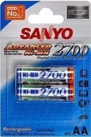 Sanyo HR 3U-2BP 2700 MAH, AA 2 ks