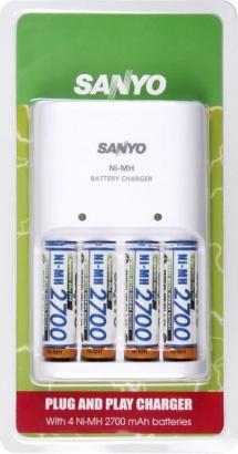 Sanyo NC-MQN04-E + 4x AA Ni-MH 2700 mAh