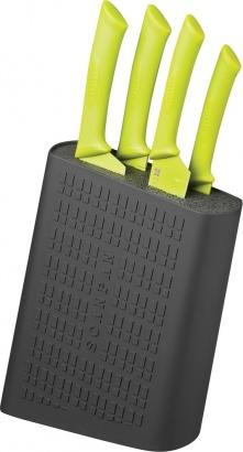 SCANPAN Blok na nože + 4 nože černá/zelená