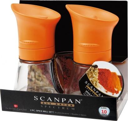 SCANPAN Mlýnek na koření oranžový 2ks