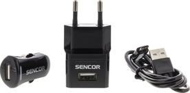 Sencor SCO 515-000BK USB KIT 1M/WALL/CAR