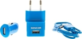 Sencor SCO 515-000BL USB KIT 1M/WALL/CAR