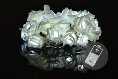 Sharks D33216 Dekorativní LED osvětlení - růže studená bílá