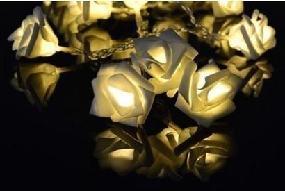 Sharks D33220 Dekorační LED osvětlení - růže - teplá bílá