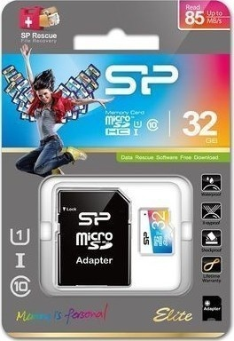 Silicon Power MicroSD,UHS-1,32GB SP032GBSTHBU1V20SP
