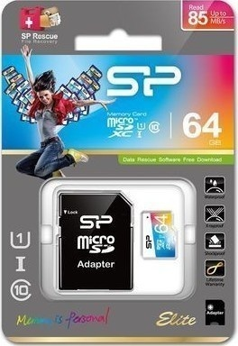 Silicon Power MicroSD,UHS-1,64GB SP064GBSTXBU1V20SP