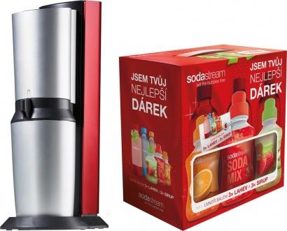 SodaStream CRYSTAL RED/SILVER + dárek 6v1
