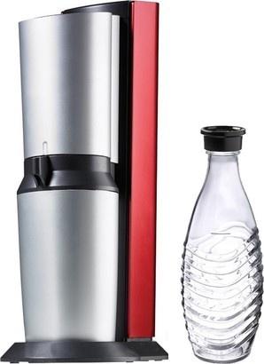 SodaStream Crystal Red/Silver + skleněná lahev