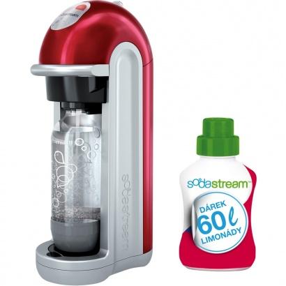SodaStream FIZZ RED BEZ LCD + 60l limo
