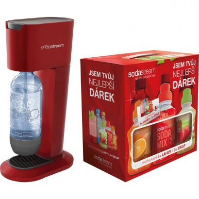 SodaStream GENESIS CHILLY/RED + dárek 6v1