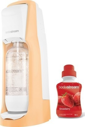 SodaStream Jet Pastel Orange + jahoda sirup