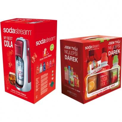 SodaStream JET RED/SILVER COLA + dárek 6v1