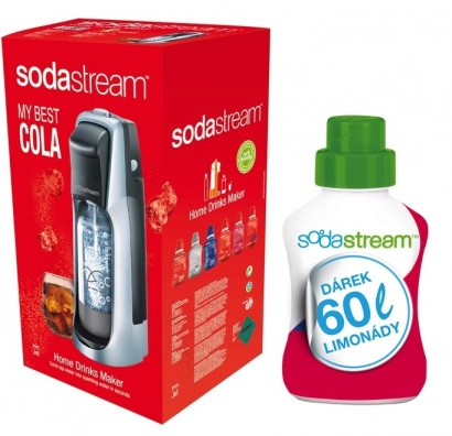 SodaStream JET TITAN/SILVER COLA + 60l limo