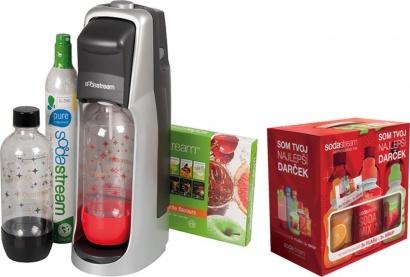 SodaStream JET TITAN/SILVER KOKTEJL + dárek 6v1