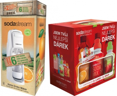 SodaStream JET WHITE CITRUS + dárek 6v1