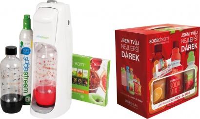 SodaStream JET WHITE KOKTEJL + dárek 6v1